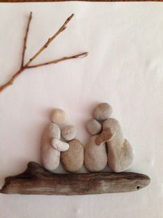 "Pebble Art "" Family"" by Denise Gray."