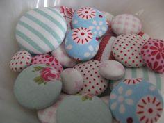 Tilda fabric buttons...