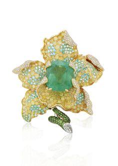 Award winning piece by Alessio Boschi /  Flower Jewelry