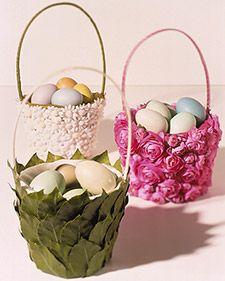How to make a beautiful basket out of a boring old basket using fabric, silk flowers and leaves ribbon etc.