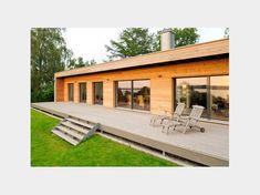 Moderner Bungalow moderner bungalow baufritz mit einer großzügigen sonnenterrasse