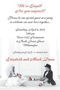 After the Wedding Party / eloping - Invitations and Announcements