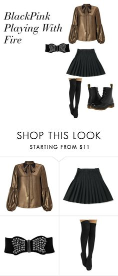 """""""BlackPink Playing With Fire"""" by jackiestarlight on Polyvore featuring Miss Selfridge and Dr. Martens"""
