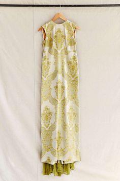 Vintage Brocade Maxi Dress