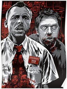 Gallery Edgar Wright show, Shaun of the Dead, Mr. Scott Pilgrim, Horror Films, Horror Art, Horror Posters, Live Action, Dc Comics, Zombie Movies, Alternative Movie Posters, Movie Poster Art