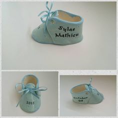 Personalized Ceramic Baby Shoe, Custom Baby Shoe,  New Baby Gift, - pinned by pin4etsy.com