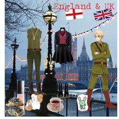 Hetalia: England/UK inspired by sweetly-evil on Polyvore