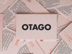 OTAGO was a new company looking for an identity that would reflect a modern African aesthetic. We developed a clean and modern logotype supplemented by a set of. Self Branding, Branding And Packaging, Business Branding, Business Card Design, Packaging Design, Corporate Branding, Identity Branding, Visual Identity, Creative Business