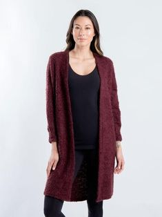 Our fuzzy knit cardigan is the ideal piece for every occasion. Wear it as a cozy over-piece for a laid back coffee break or take it on your travels to stay warm during chilly flights. Coffee Break, Stay Warm, Get The Look, Knit Cardigan, Traveling By Yourself, Knitting, Sweaters, How To Wear, Collection