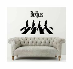 Abbey Road The Beatles wall decal favourite by cutnpasteshop