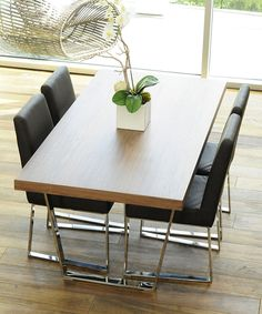 Another great find on #zulily! Walnut Sien Dining Table by Pangea Home #zulilyfinds