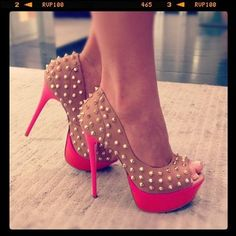 Studded Peep-Toe, these are so me!