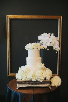 Elegant Hills Hotel Wedding | A Good Affair Wedding & Event Production | Anthony Carbajal Photography  #tiered #cakes #floral #white #elegant #yummy