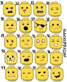 LEGO+Head+Printable | Lego Faces Expressions Lego.com gallery