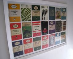 In celebration of 75 years of publishing, Penguin recently bought out a box of 100 postcards showing some of their more classic book covers from over the years. I thought it would be a nice idea to… Postcard Display, Postcard Wall, Large Picture Frames, Modern Vintage Homes, Penguin Books, Classic Books, Photo Displays, Vintage Postcards, Penguins