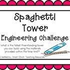 Engineering Challenge:  What is the tallest tower you can build using the materials provided in 30 minutes? $