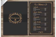 Elegante Speisekarten Vorlage Dina4 Speisekarte Speisekarte Restaurant Getranke Karte