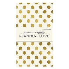 Planner Love Notebooks 3 Pack - Gold
