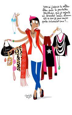 #shabiller #fille #mode #bijoux #choisir #select #illustration #Charlottedujour #Agatha #Fashion #Jewelry #Bijouxfantaisie