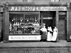 Image detail for -... new healthy butcher store with this picture of an 1800 s pork butcher