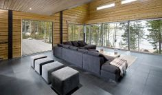log-house-at-333-7 Roof Window, Outdoor Furniture Sets, Outdoor Decor, Log Homes, Scandinavian Style, Nice View, Windows, Flooring, Wood