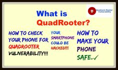 QuadRooter/How to check your phone for Quadrooter Vulnerability/