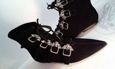 Goth Pikes lace-up BATS winklepickers boots Goth by GothPikes