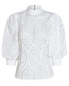 White Lace Blouse, Ruffle Blouse, Neutral Blouses, Frock Design, Boutique, Silk Top, Blouse Designs, Women Wear, Fashion Outfits