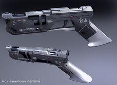 Oblivion (Jack's Handgun Revision), Jim Martin Design Cool Guns, Jim Martin, Sci Fi Weapons, Weapons Guns, Fantasy Weapons, Steampunk Weapons, Firearms, Sci Fi Pistol, Weapon Concept Art