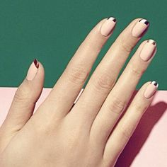 """Celebrate Bastille Day! Try an update on the classic French manicure (like Hot Tips, seen here) for nails that say, """"Ooh-la-la!"""" ✨"""