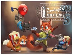 """""""Oops wrong guess, better luck next time I guess."""" Fan art of Nick Wilde from Zootopia as a lil con fox."""