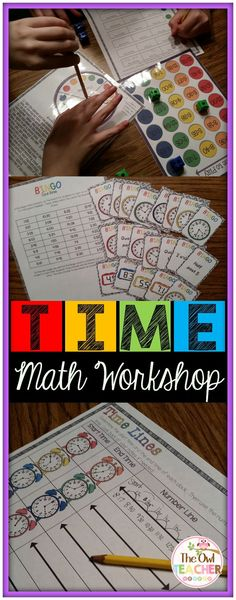 This is 15 days of fully detailed lesson plans in the math workshop/guided math model teaching 3.MD.1 for telling time to the nearest minute, finding elapsed time and the strategies, and finding elapsed time with a time unknown per common core. It is packed full of all the resources you need including detailed scripted lesson plans, games, worksheets, vocabulary word wall posters, and much more to save you time in the classroom while teaching a quality unit that matches common core! $