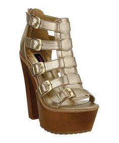 Loving this Gold Troy Sandal on #zulily! #zulilyfinds