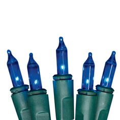 Shop Holiday Living 100-Count Incandescent Mini Blue Christmas String Lights at Lowes.com