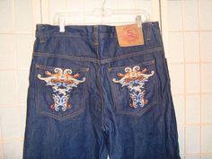 Soulland Sz 36 x 34 Men's Dark Wash 100% Denim Cotton Straght Leg Jeans #Soulland #ClassicStraightLeg