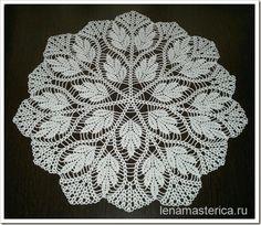 Crochet Doily - Free Crochet Diagram - (lenamasterica)