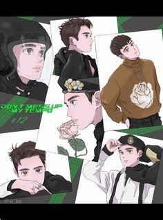 Exo Fan Art, Kyungsoo, Chibi, Fanart, Novels, Kpop, Illustration, Cute, Anime