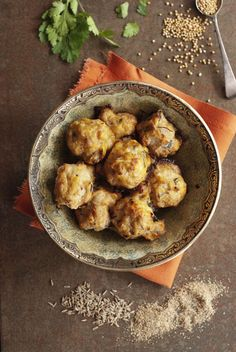 Ginger Chicken Meatballs with Masala Sauce. Will make it gluten-free.