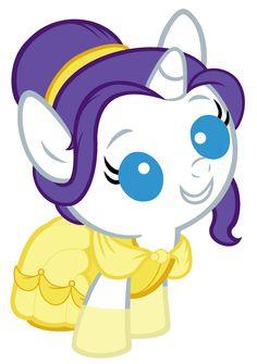 Baby Rarity Dressed As Belle by Beavernator.deviantart.com on @deviantART