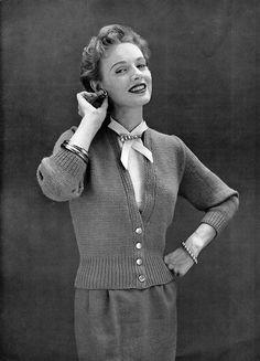 Vintage 50s Cardigan Knitting Pattern
