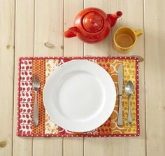 Here's a place mat that's so easy you'll be eager to sew a set of four! This quilt-as-you-go project means that when the top is done, so is the quilting!