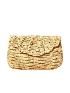 The perfect little straw clutch for spring and summer