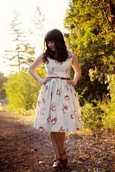 Apple Print Dress- Carleylee.org