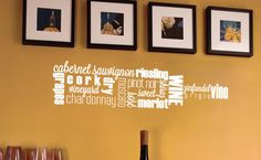 Add this to your bar or kitchen in the color of your choice!  Wine words from #Uppercase Living.    http://kathryn.uppercaseliving.net