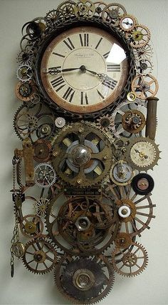 Steampunk Genuine pendulum Clock Fiona- Clocks and the inner workings of clocks could be an interesting bounce off point? Steampunk gadgets and craft Chat Steampunk, Design Steampunk, Arte Steampunk, Style Steampunk, Steampunk Clock, Steampunk House, Steampunk Fashion, Steampunk Bedroom, Steampunk Drawing
