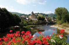 Saint Geniez d'Olt - one of 10 most beautiful villages of France in Aveyron region
