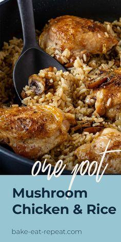 Chicken Rice Recipes, Chicken Flavors, Chicken Meals, Chicken With Rice, Meals With Rice, Recipes With Rice, Chicken Cooker, One Pot Chicken, Teriyaki Chicken