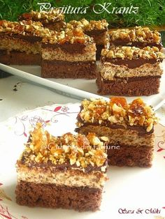» Prajitura KrantzCulorile din Farfurie Vegetarian Recipes, Cooking Recipes, Brownie Cake, Brownies, Truffles, Food And Drink, Healthy, Desserts, Cakes