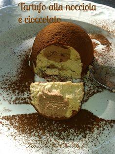 vaniglia e cioccolato: tartufo alla nocciola con cuore al cioccolato