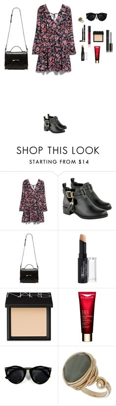 """M"" by butnotperfect ❤ liked on Polyvore featuring MANGO, Mackage, Arbonne, Revlon, NARS Cosmetics, Chanel, Clarins and Topshop"